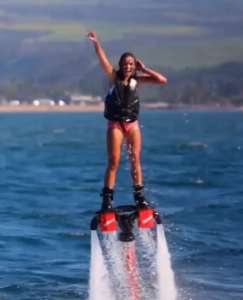 Girl FlyBoarding