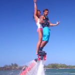 Girl and Guy on FlyBoard